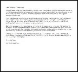 Warrant Officer Recommendation Letter Livecareer