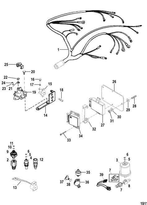 mercruiser  carburetor mie wiring harness electrical