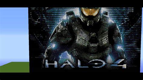 Minecraft Pixel Art Halo 4 Youtube