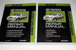 2002 Toyota Land Cruiser Repair Manuals  Uzj100 Series  2 Volume Set