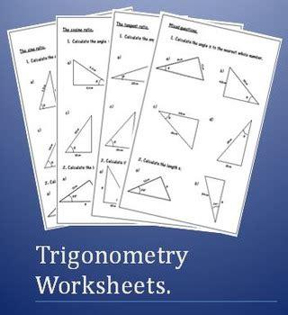 trigonometry worksheets soh cah toa by 123 math tpt