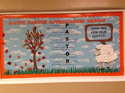 Ideas For Pastor Appreciation by Pastor Appreciation Bulletin Board Pastors Day