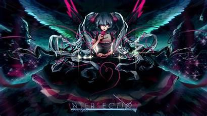 Miku Hatsune Dark Vocaloid Theme Twintails Wallpapers