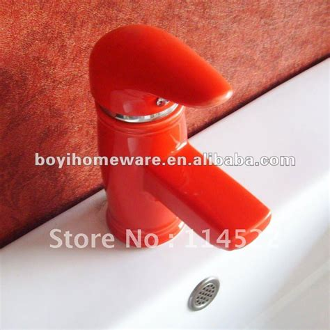 red colored ceramic tap antique kitchen faucet unique