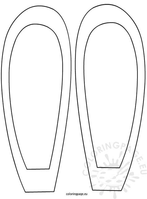 easter bunny ears template coloring page