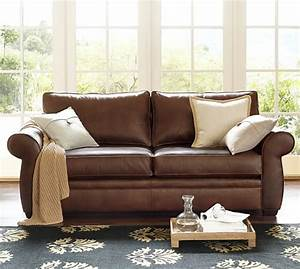 Pottery barn leather sofas armchairs sale save 20 on for Pottery barn sectional sofa sale