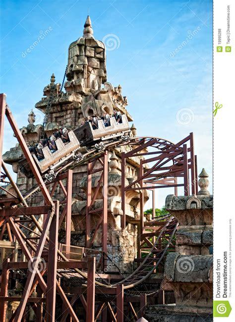 roller coaster  eurodisney editorial stock photo image