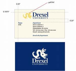 Administrative stationery identity drexel university for University business cards