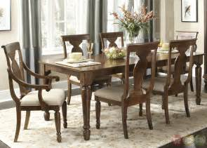 11 dining room set rustic cherry rectangular table formal dining room set