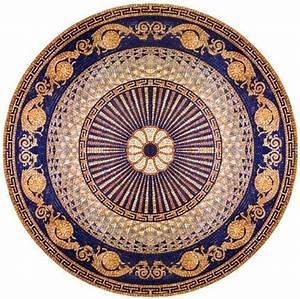 48 Inch Diameter Marble Mosaic Medallion Tiles Wall Floor