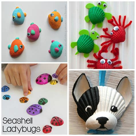 craft idea adorable seashell craft ideas for kids crafty morning