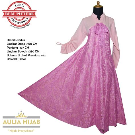 Harga Gamis Merk Aulia info harga jual baju pesta muslim brokat termurah dan