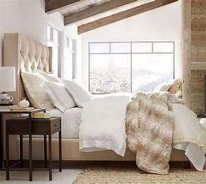 Harper Upholstered Tufted Tall Bed Headboard Pottery Barn