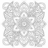Mandala sketch template