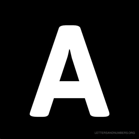 Free Alphabet Letters A to Z Black | Letters and Numbers Org