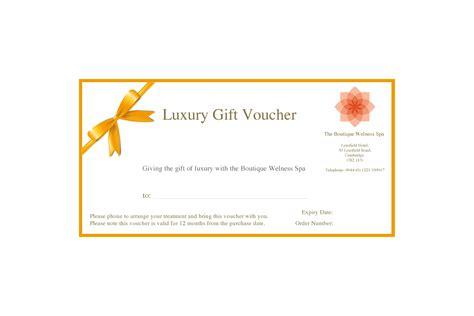 luxury spa voucher  boutique wellness spa