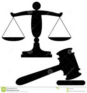 Justice Scale and Gavel Clip Art