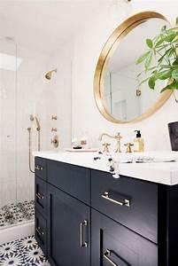 Miroir Rond Salle De Bain : le miroir dor en 40 photos ~ Nature-et-papiers.com Idées de Décoration