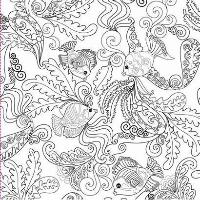 Coloring Ocean Pages Adults Printable