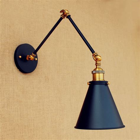 ᗖblack wall sconce antique retro retro loft vintage wall