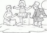 Coloring Sand Castle Sandcastle Library Clipart Cartoon sketch template