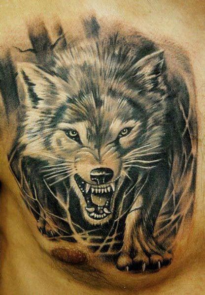 un tatouage de loup 18 inkage