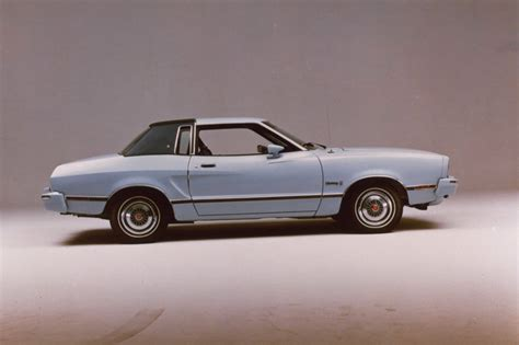 light blue  ford mustang ii ghia coupe