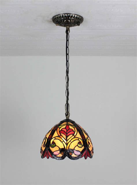 glass hanging light fixtures tiffany hanging bar light stained glass island l