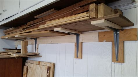 wood storage shelf  garage homediygeek
