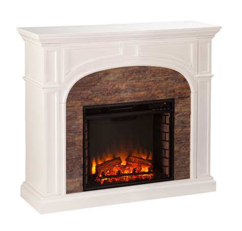 stacked electric fireplace 45 75 quot tanaya stacked effect electric fireplace