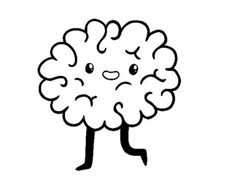 disegni kawaii da stare disegno di cervello kawaii da colorare acolore