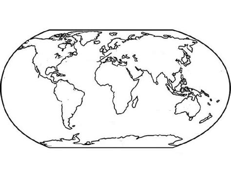 37 Coloring Pages Maps, World Map Coloring Page For Kids