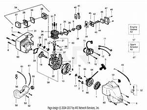 Poulan Wildthing Gas Trimmer Parts Diagram For Power Unit