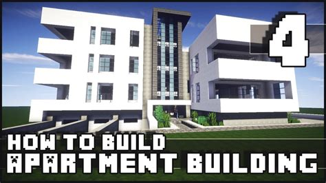 how to build a minecraft how to build modern apartment building