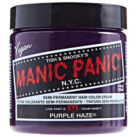 manic panic purple colors manic panic semi permanent color purple