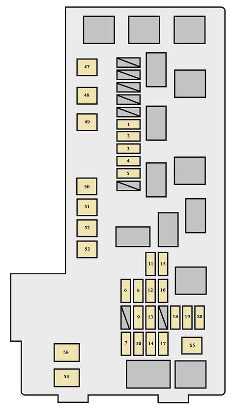 2001 Toyotum Fuse Box Diagram by Toyota Highlander Xu20 2000 2003 Fuse Box Diagram