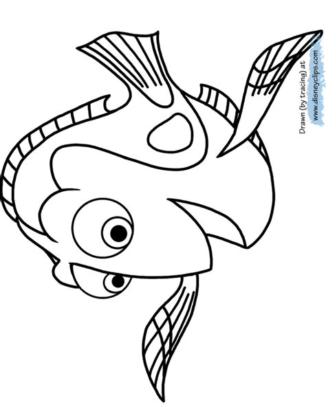 Coloring Templates by Finding Dory Coloring Pages Disneyclips