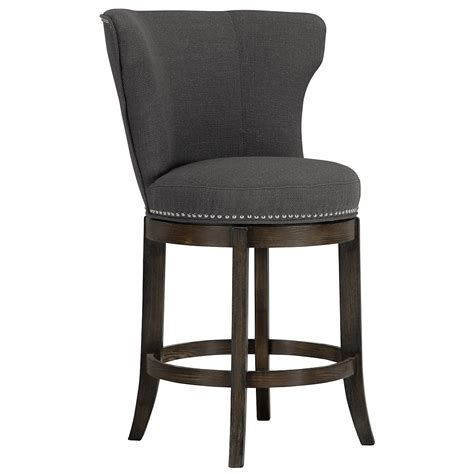 fabric counter stools city furniture cayden dk gray fabric 24 quot barstool 3649