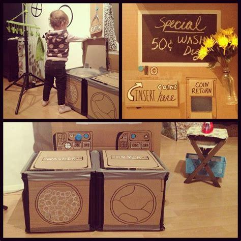 Cardboard Diy Child Dramatic Play Pretend Laundry Day