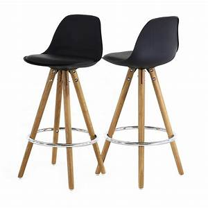 Chaise Haute Plan De Travail : chaise plan de travail noire tr pied en bois scandinave ~ Edinachiropracticcenter.com Idées de Décoration