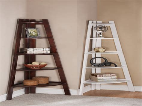 Appealing Design Corner Shelf Ideas Comes With White And
