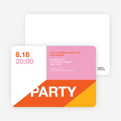 Modern Party Invitations Paper Culture