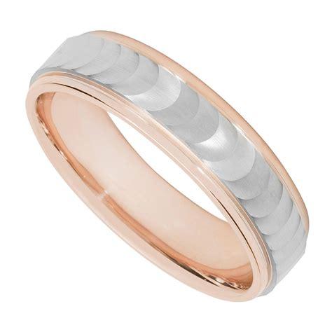 s palladium 950 and 9ct gold wave wedding ring