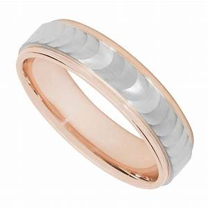 men39s palladium 950 and 9ct rose gold wave wedding ring With men s wave wedding ring