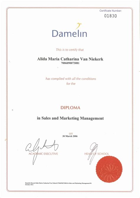 marketing courses with certificates diploma sales and marketing