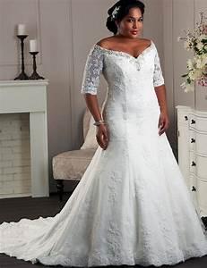 Wedding dresses yw082 off shoulder half sleeves wedding for Plus wedding dress with sleeves