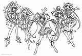 Glitter Force Coloring Pages Characters Printable Adults sketch template