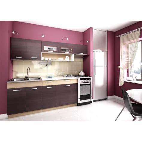 mod鑞e cuisine topaze noyer 2m40 6 meubles kit cuisine mod achat vente cuisine complete pas cher couleur et design fr