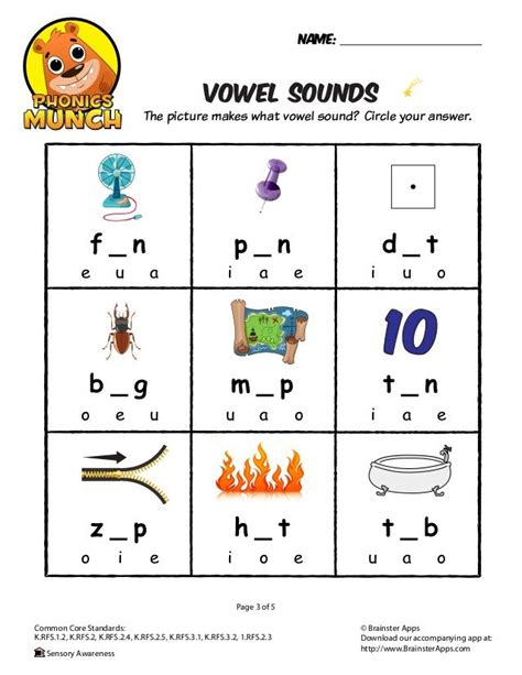 vowel sounds phonics worksheet projects   phonics