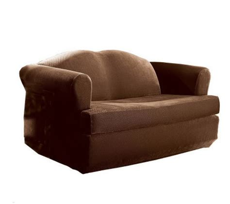 sure fit stretch t cushion sofa slipcover sure fit stretch pique separate t cushion loveseat